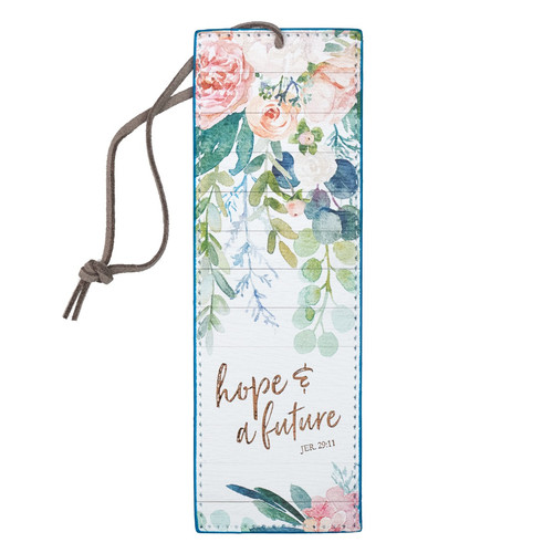 Hope and a Future Faux Leather Bookmark - Jeremiah 29:11