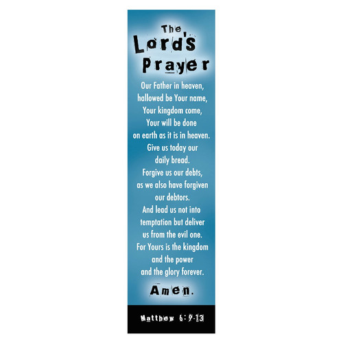 Lords Prayer (Blue) Bookmarks