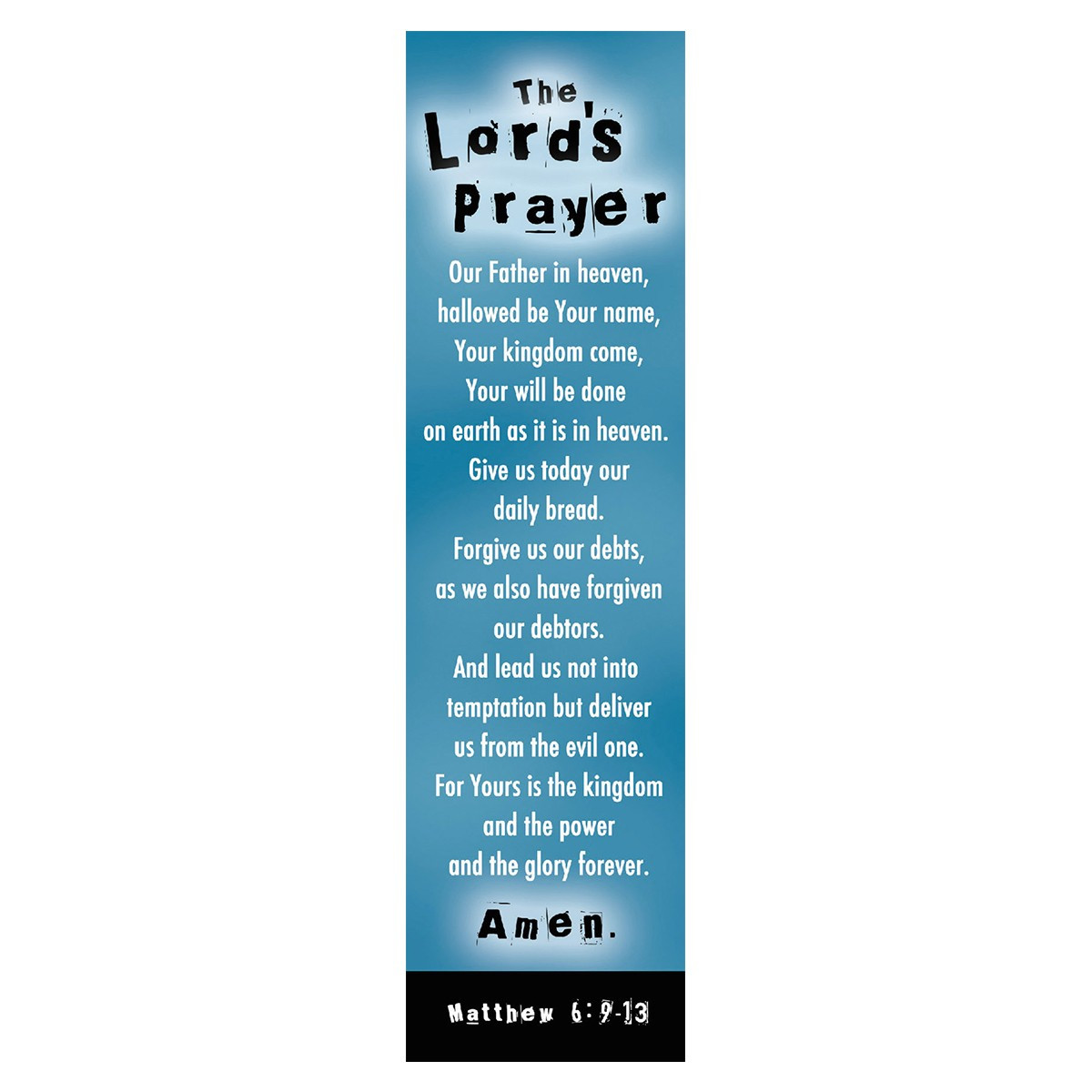 Lord S Prayer Blue Bookmarks