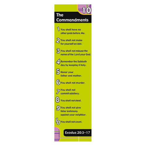 Ten Commandments (Lime) Bookmarks