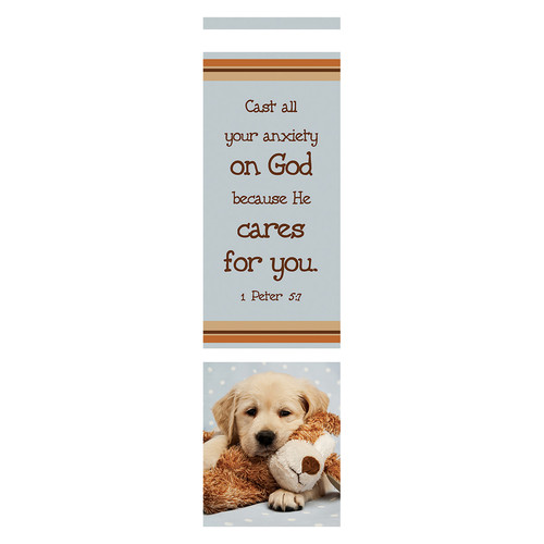 Cast All Your Anxiety on God (Blue) Bookmarks