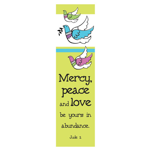 Mercy, Peace and Love - 10 pack Bookmarks