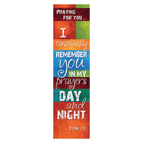 Praying for You Bookmarks - 2 Timothy 1:3