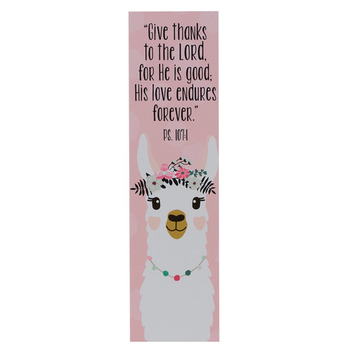 Give Thanks to the LORD Sunday School/Teacher Bookmark Set - Psalm 107:4