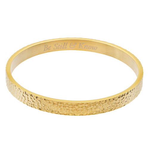 Be Still And Know Bangle Bracelet