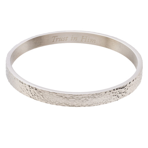 Trust In Him Bangle Bracelet