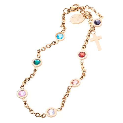 Salvation Cubic Zirconia Chain Bracelet
