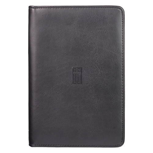 Black Faux Leather Bible Study Kit with Cross Design