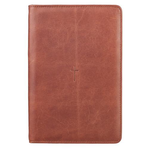 Brown Cross Bible Study Kit - Full Grain Leather