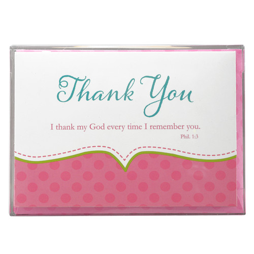 Thank You Cards for Baby Girl Shower - Phil 1:3