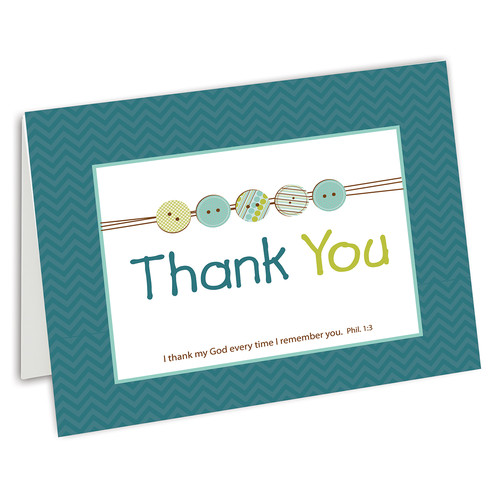 Thank You Cards for Baby Boy Shower - Phil 1:3