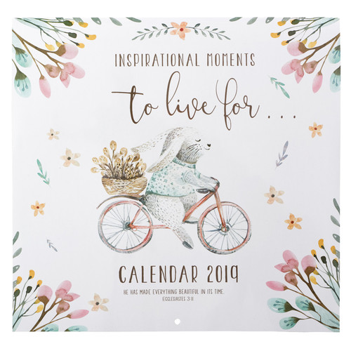 Inspirational Moments 2019 Large Wall Calendar