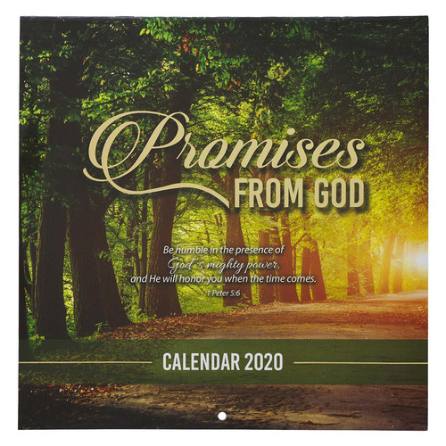 Promises From God Large Wall Calendar 2020
