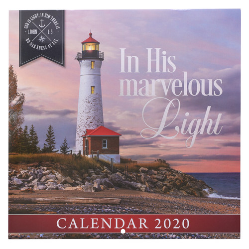 In His Marvelous Light Large Wall Calendar 2020