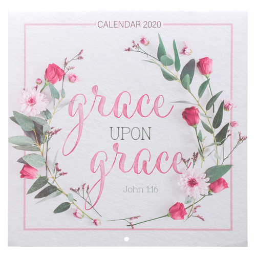 Grace Upon Grace Large Wall Calendar 2020