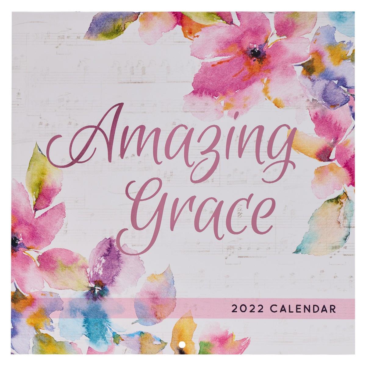 Large Wall Calendar 2022.2022 Amazing Grace Large Wall Calendar