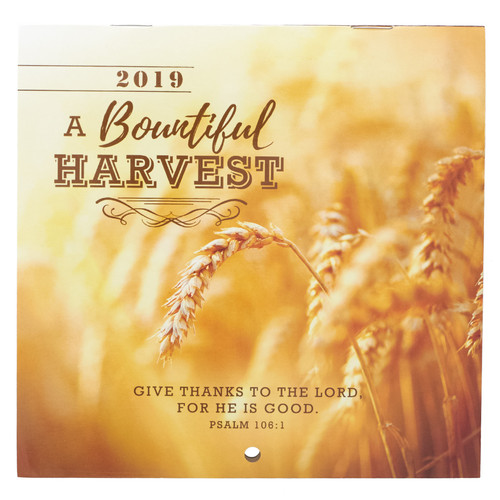 A Bountiful Harvest 2019 Small Wall Calendar