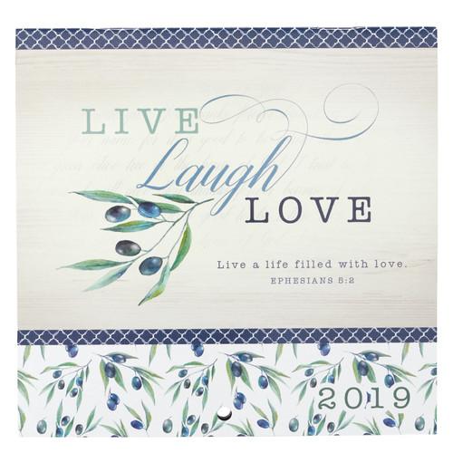Live, Laugh, Love - Ephesians 5:2 2019 Small Wall Calendar