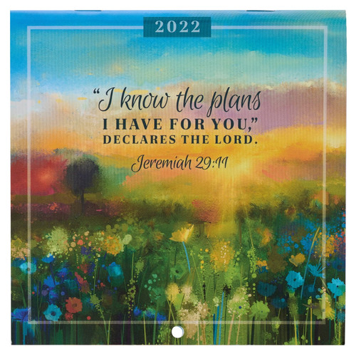 2022 I Know The Plans Small Wall Calendar - Jeremiah 29:11