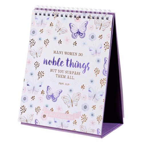 2022 Noble Things Desktop Calendar - Proverbs 31:29