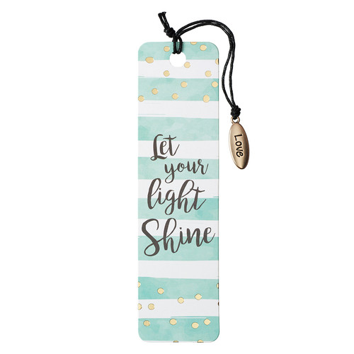 Let Your Light Shine Bookmark with Charm