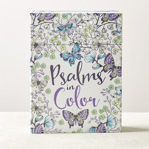Psalms in Color Coloring Cards
