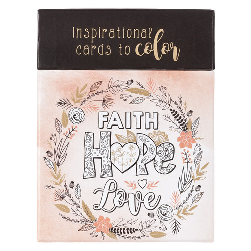 Faith Hope Love Coloring Cards