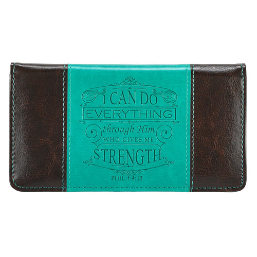 I Can Do Everything Through Him - Philippians 4:13 Checkbook Cover