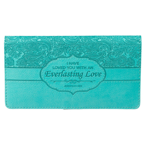 Everlasting Love - Jeremiah 31:3 Checkbook Cover
