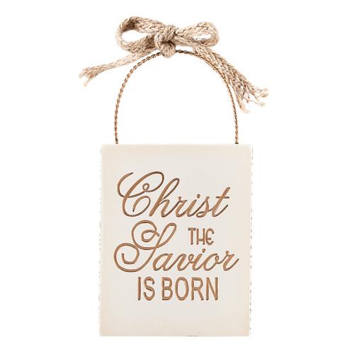 Christ the Savior is Born Resin Christmas Ornament