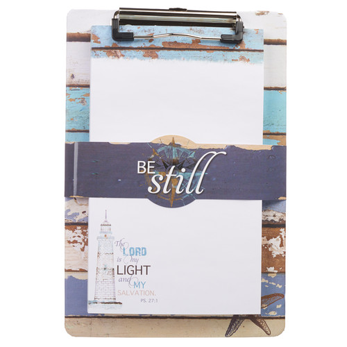 Be Still Clipboard and Notepad Featuring Psalm 27:1