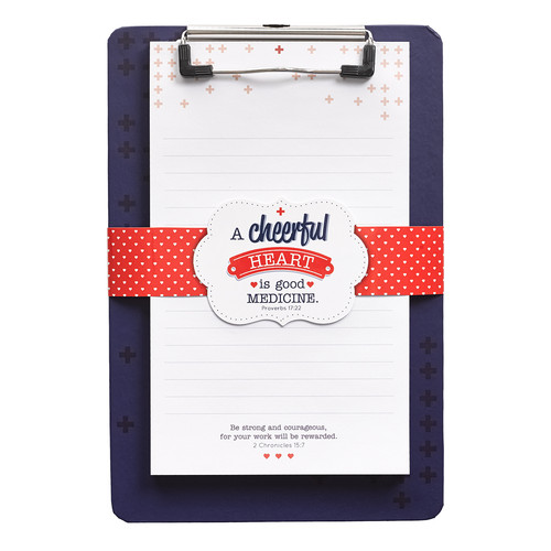 A Cheerful Heart Clipboard and Notepad - Proverbs 17:22