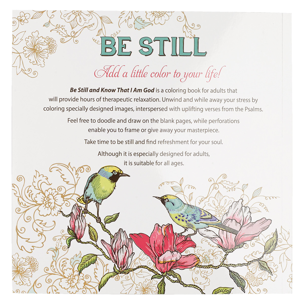 Coloring Book Be Still And Know That I Am God