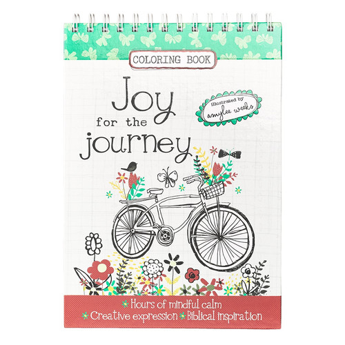 Joy for the Journey Wirebound Coloring Book by Amylee Weeks