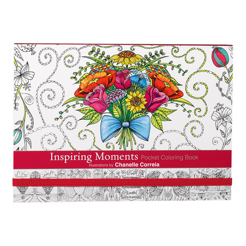 Inspiring Moment Pocket Size Coloring Book by Chanelle Correia