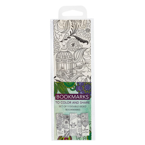 Color and Share Bookmarks - Green