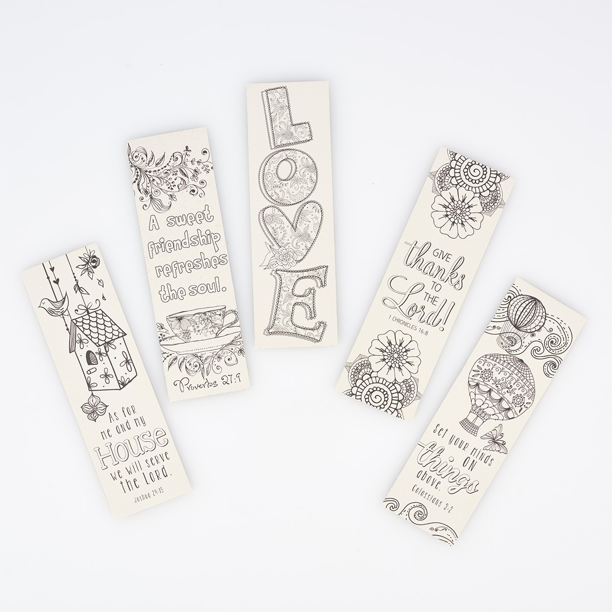 Color and Share Bookmarks - Red