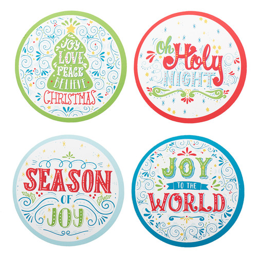Christmas Coaster Set: Joy to the World