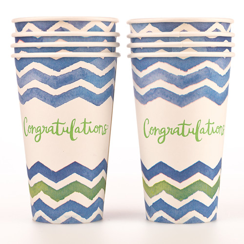 Paper Cups: Graduation Congratulations Pack of 8 - Psalm 20:4