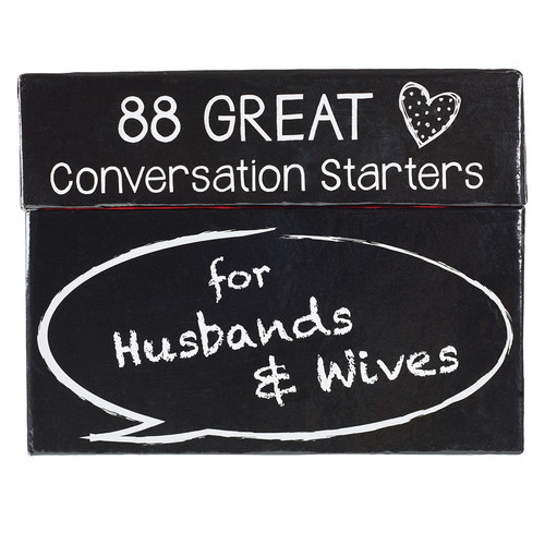 88 Great Conversation Starters For Husbands & Wives
