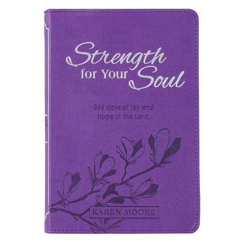 Strength For Your Soul Purple Faux Leather Devotional
