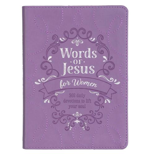 Words of Jesus for Women Purple Faux Leather Devotional