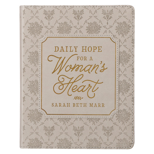 Daily Hope for a Womens Heart Taupe Faux Leather Devotional