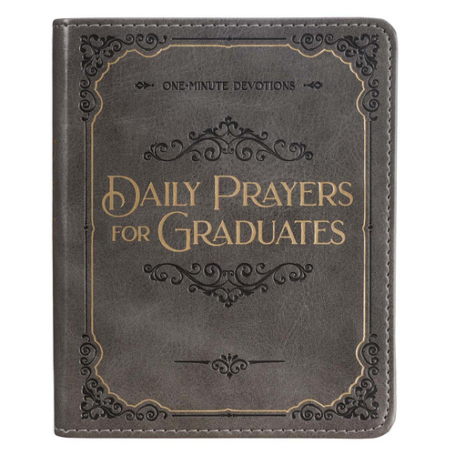Daily Prayers for Graduates Gray Faux Leather Devotional