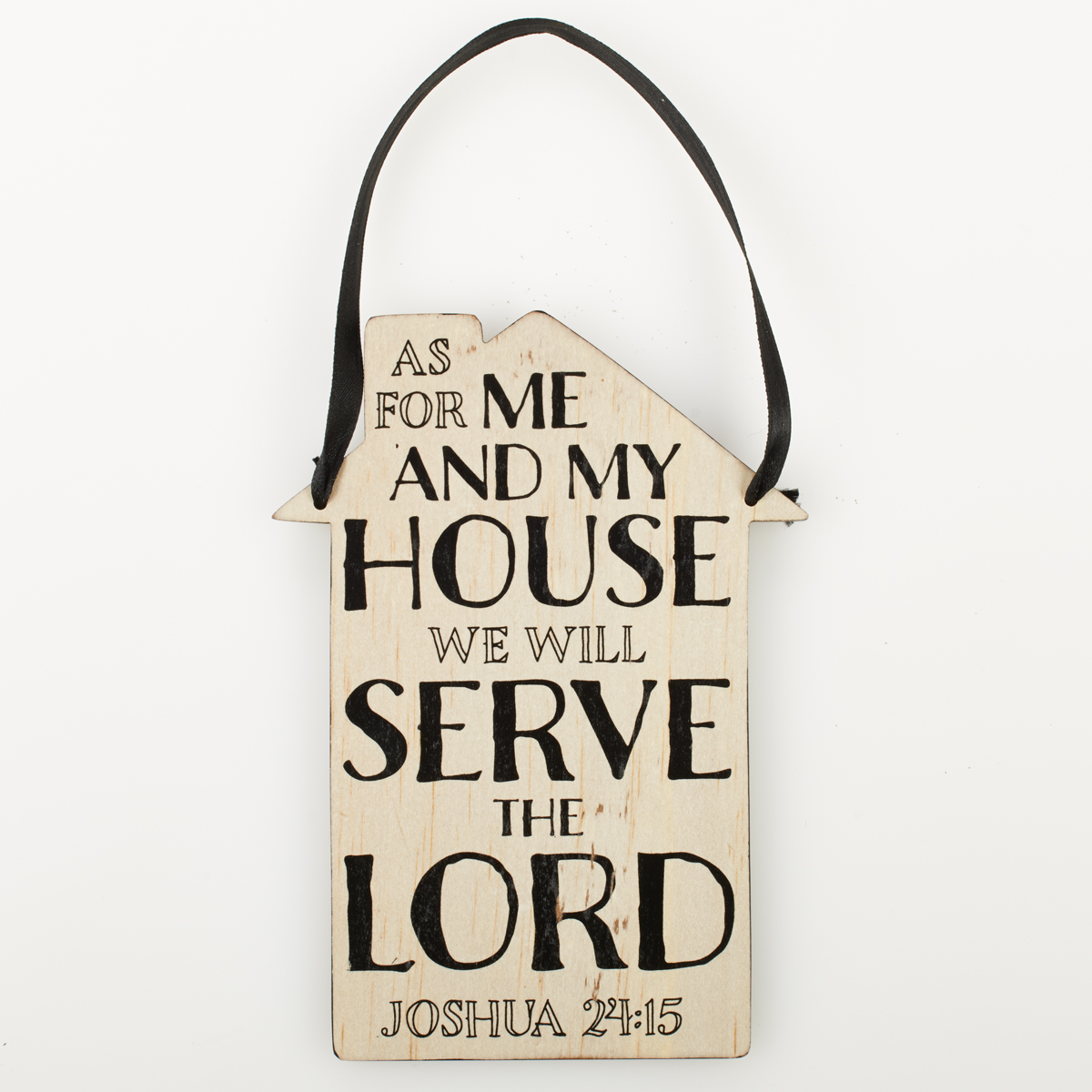 Door Hanger: As For Me And My House   Joshua 24:1 | Christian Art Gifts
