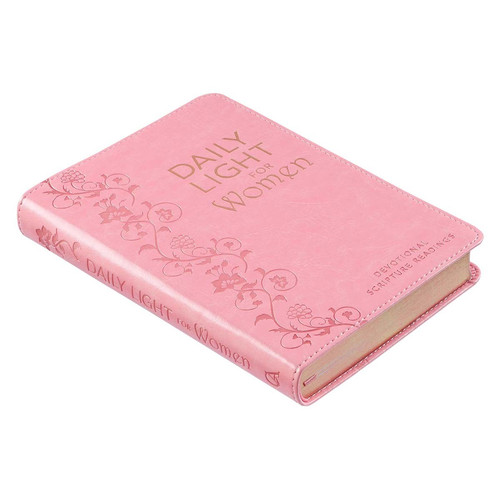 Daily Light for Women Pink Faux Leather Devotional