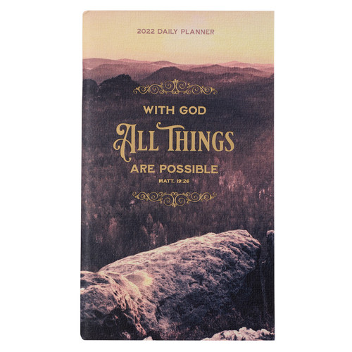 2022 All Things Are Possible Small Daily Planner - Matthew 19:26