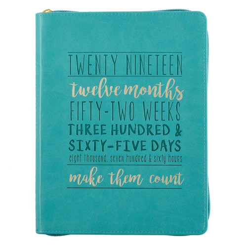 Make Them Count - Proverbs 16:3 - 2019 Large Classic Luxleather Planner