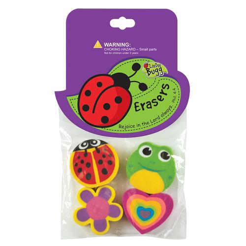 LaeDee Bugg Erasers Ladybug