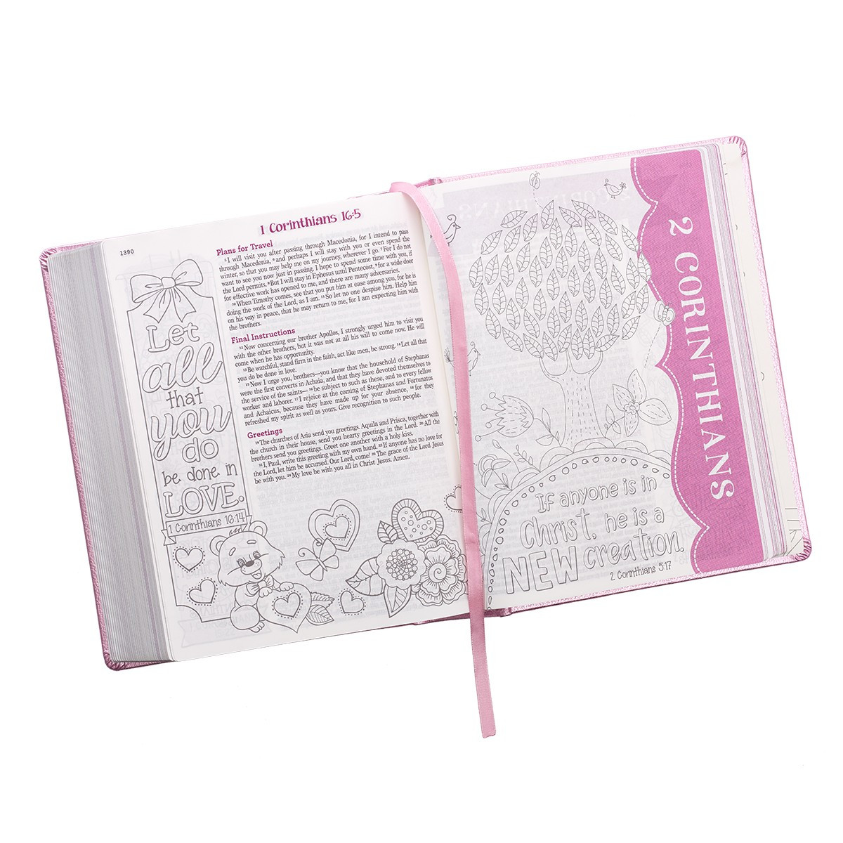 My Creative Bible For Girls Journaling Bible Esv Pink Luxleather Hardcover